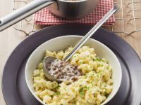 Quark Spaetzle with Creamy Lentils recipe