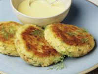 Quick Hollandaise with Fish Cakes recipe