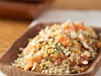 Quinoa and Lentil Salad with Smoked Salmon and Dill recipe