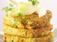 Quinoa, Potato and Carrot Pancakes recipe