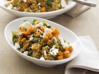 Quinoa with Feta and Sweet Potato recipe