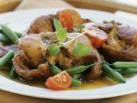 Rabbit Cutlets with Green Beans recipe