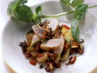Rabbit Fillet with Sweet Potatoes and Tomato Sauce recipe