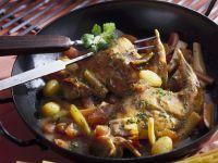 Rabbit Leg with Mustard Sauce recipe