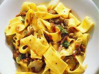Hare Ragout with Ribbon Pasta recipe