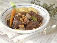 Rabbit Stew with Pearl Onions, Mushrooms and Dumplings recipe