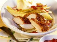 Rabbit with Endive-pear Salad recipe
