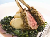 Rack of Lamb, Spinach and Mashed Potatoes recipe