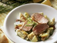 Rack of Lamb with Artichoke recipe