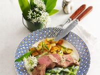 Rack Of Lamb with Romano Beans and Wild Garlic recipe
