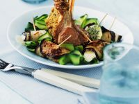 Rack of Lamb with Vegetables