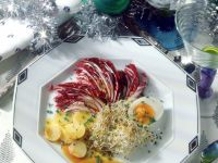 Radicchio Salad with Potatoes, Eggs and Alfalfa Sprouts recipe