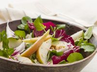 Radicchio Salad with Watercress, and Pear recipe