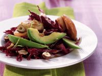Radicchio with Avocado and Scallops recipe