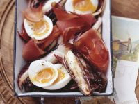 Radicchios with Eggs and Bacon recipe