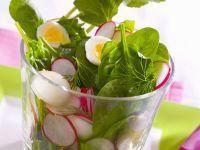 Radish and Quail Egg Spring Salad recipe