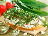 Radish, Quark and Wild Garlic Toasts recipe