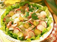 Radish Salad with Smoked Pork recipe