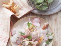 Radish Salad with Trout recipe