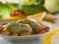 Radish Salad with Vegetable Mousse