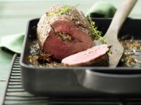 Beef Tenderoin with Mushroom Stuffing recipe
