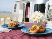 Raisin and Honey Filled Peaches recipe
