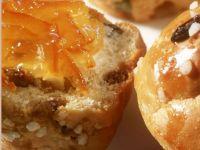 Raisin Yeast Muffins recipe