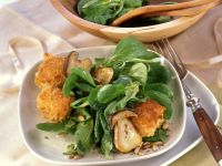 Rapunzel Salad with Porcini Mushrooms and Breaded Goat Cheese recipe