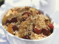 Raspberry and Apricot Crumble recipe