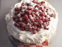 Raspberry and Cream Pavlova recipe