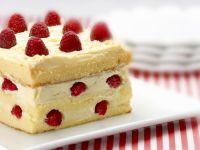 Raspberry and White Chocolate Slice recipe