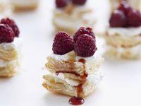 Raspberry Caramel Tart with Puff Pastry recipe