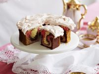 Raspberry Chocolate Marble Cake recipe