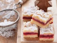 Raspberry Crumble Squares recipe