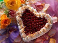 Raspberry Heart Cake recipe
