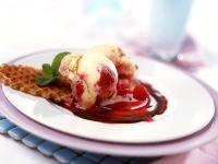 Raspberry Ice Cream with Raspberry Sauce recipe