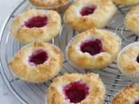 Raspberry Macaroon Thumbprint Cookies recipe