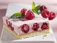 Raspberry Mousse Squares recipe