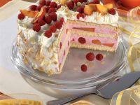 Raspberry Peach Cake recipe