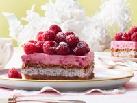 Raspberry Poppy Seed Cream Cake recipe