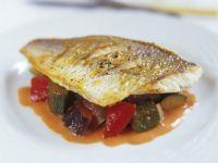 Ratatouille with Fish Fillet recipe