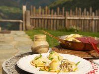 Ravioli Stuffed with Sauerkraut and Bacon recipe