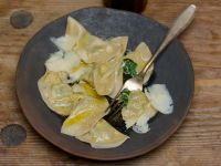 Ravioli with Spinach and Parmesan recipe