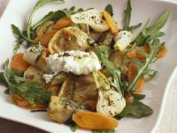 Ravioli with Vegetables and Goat Cheese recipe