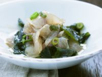 Raw Fish with Scallions and Seaweed recipe