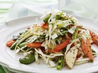 Raw Vegetable, White Cabbage and Apple Salad recipe