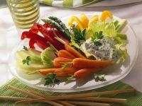 Raw Vegetables with Quark Dip recipe