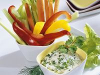 Raw Veggie Crudités with Dip recipe