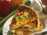Red Bell Pepper and Zucchini Quiche recipe