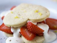 Red Berry Heart Stacks recipe